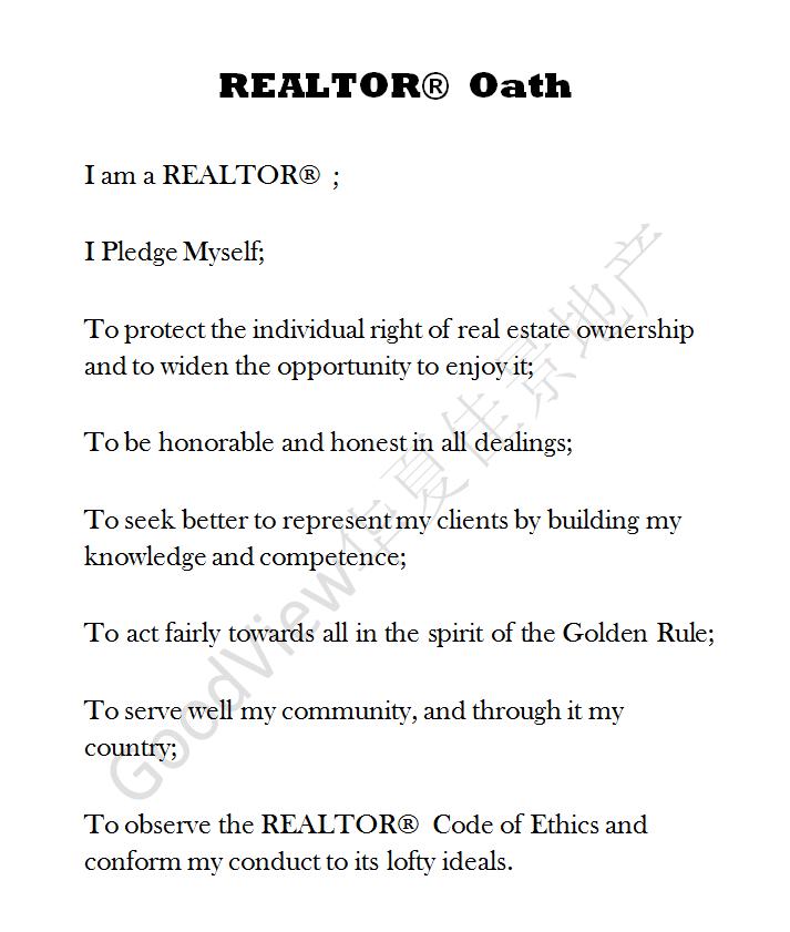REALTOR OATH